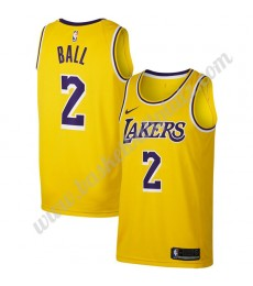 Los Angeles Lakers Trikot Herren 2019-20 Lonzo Ball 2# Gold Icon Edition Basketball Trikots NBA Swingman