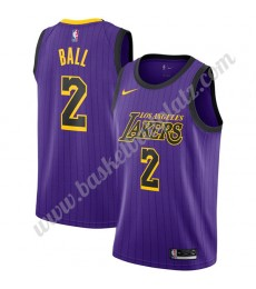Los Angeles Lakers Trikot Herren 2019-20 Lonzo Ball 2# Lila City Edition Basketball Trikots NBA Swin..