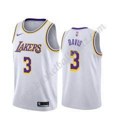 Los Angeles Lakers Trikot Herren 2019-20 Anthony Davis 3# Weiß Association Edition Basketball Trikot..