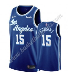 Los Angeles Lakers Trikot Herren 2019-20 DeMarcus Cousins 15# Blau Classics Edition Basketball Triko..