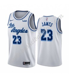 Los Angeles Lakers Trikot Herren 2019-20 LeBron James 23# Weiß Classics Edition Basketball Trikots N..