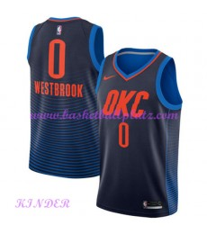 Oklahoma City Thunder NBA Trikot Kinder 2018-19 Russell Westbrook 0# Statement Edition Basketball Tr..