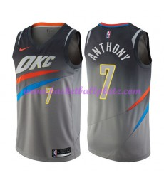 Oklahoma City Thunder Trikot Herren 2018-19 Carmelo Anthony 7# City Edition Basketball Trikots NBA S..