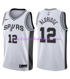 San Antonio Spurs Trikot Herren 2018-19 LaMarcus Aldridge 12# Association Edition Basketball Trikots..