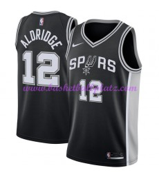 San Antonio Spurs Trikot Herren 2018-19 LaMarcus Aldridge 12# Icon Edition Basketball Trikots NBA Sw..