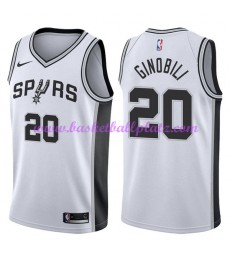 San Antonio Spurs Trikot Herren 2018-19 Manu Ginobili 20# Association Edition Basketball Trikots NBA..