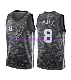 San Antonio Spurs Trikot Herren 2018-19 Patty Mills 8# City Edition Basketball Trikots NBA Swingman..
