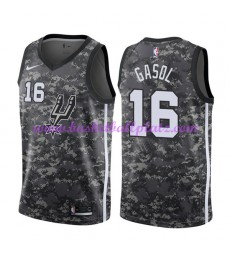 San Antonio Spurs Trikot Herren 2018-19 Pau Gasol 16# City Edition Basketball Trikots NBA Swingman..