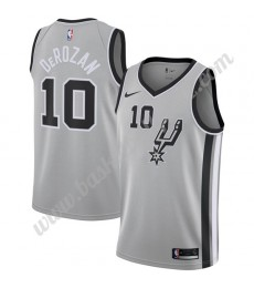San Antonio Spurs Trikot Herren 2019-20 DeMar DeRozan 10# Grau Statement Edition Basketball Trikots ..